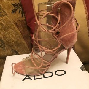 Pink Aldo lace up sandals